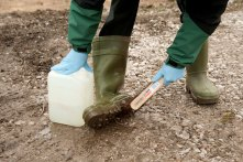 Think Kit: Clean your boots before and after visiting a site